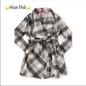 NWOT Matilda Jane Check it Twice Plaid Wrap Jacket